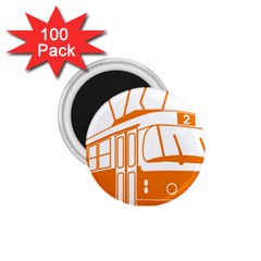 Tramway Transportation Electric 1.75  Magnets (100 pack)