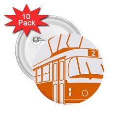 Tramway Transportation Electric 2.25  Buttons (10 pack)