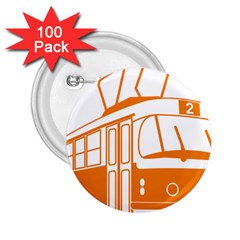Tramway Transportation Electric 2.25  Buttons (100 pack)