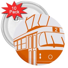 Tramway Transportation Electric 3  Buttons (10 pack)