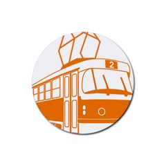 Tramway Transportation Electric Rubber Round Coaster (4 pack)
