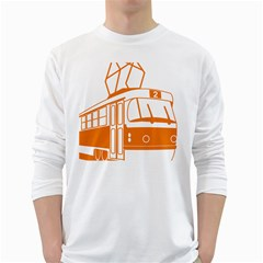 Tramway Transportation Electric White Long Sleeve T-Shirts