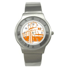 Tramway Transportation Electric Stainless Steel Watch