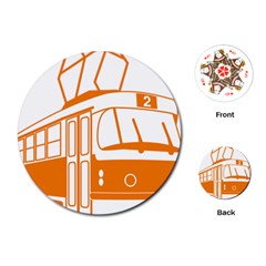 Tramway Transportation Electric Playing Cards (Round)