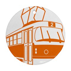 Tramway Transportation Electric Round Ornament (Two Sides)