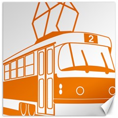 Tramway Transportation Electric Canvas 12  x 12