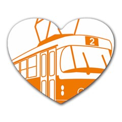 Tramway Transportation Electric Heart Mousepads
