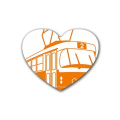 Tramway Transportation Electric Heart Coaster (4 pack)