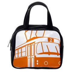 Tramway Transportation Electric Classic Handbags (One Side)