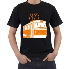 Tramway Transportation Electric Men s T-Shirt (Black)