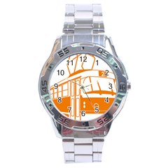 Tramway Transportation Electric Stainless Steel Analogue Watch