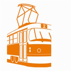 Tramway Transportation Electric Small Garden Flag (Two Sides)