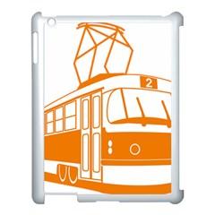 Tramway Transportation Electric Apple iPad 3/4 Case (White)