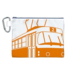 Tramway Transportation Electric Canvas Cosmetic Bag (L)