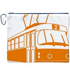 Tramway Transportation Electric Canvas Cosmetic Bag (XXXL)