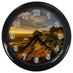 Scotland Landscape Scenic Mountains Wall Clocks (Black)