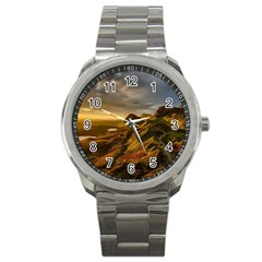 Scotland Landscape Scenic Mountains Sport Metal Watch