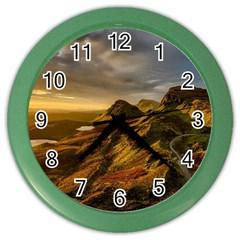Scotland Landscape Scenic Mountains Color Wall Clocks