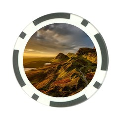 Scotland Landscape Scenic Mountains Poker Chip Card Guards