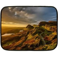 Scotland Landscape Scenic Mountains Fleece Blanket (Mini)