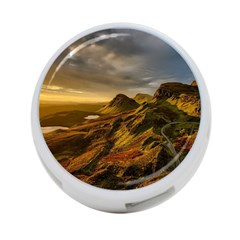 Scotland Landscape Scenic Mountains 4-Port USB Hub (One Side)