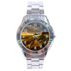 Scotland Landscape Scenic Mountains Stainless Steel Analogue Watch