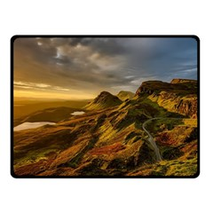 Scotland Landscape Scenic Mountains Double Sided Fleece Blanket (Small)