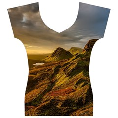 Scotland Landscape Scenic Mountains Women s V-Neck Cap Sleeve Top