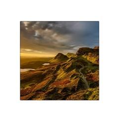Scotland Landscape Scenic Mountains Satin Bandana Scarf