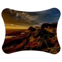 Scotland Landscape Scenic Mountains Jigsaw Puzzle Photo Stand (Bow)