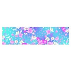 colorful pastel  flowers Satin Scarf (Oblong)