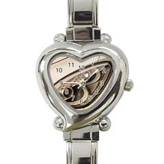 Spotlight Light Auto Heart Italian Charm Watch