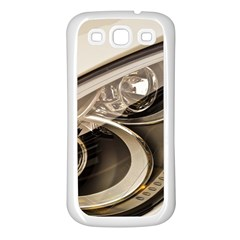 Spotlight Light Auto Samsung Galaxy S3 Back Case (White)