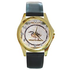Sousse Mosaic Xenia Patterns Round Gold Metal Watch