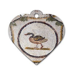 Sousse Mosaic Xenia Patterns Dog Tag Heart (Two Sides)
