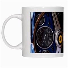 Steering Wheel Ferrari Blue Car White Mugs