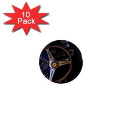 Steering Wheel Ferrari Blue Car 1  Mini Magnet (10 pack)
