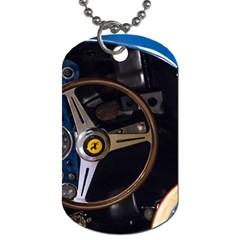 Steering Wheel Ferrari Blue Car Dog Tag (Two Sides)