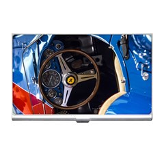 Steering Wheel Ferrari Blue Car Business Card Holders