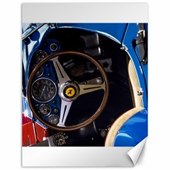 Steering Wheel Ferrari Blue Car Canvas 12  x 16