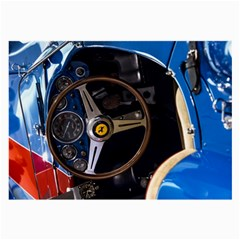 Steering Wheel Ferrari Blue Car Large Glasses Cloth
