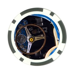 Steering Wheel Ferrari Blue Car Poker Chip Card Guards