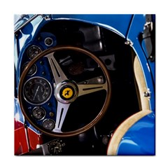 Steering Wheel Ferrari Blue Car Face Towel