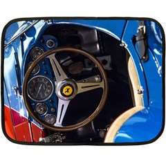 Steering Wheel Ferrari Blue Car Fleece Blanket (Mini)