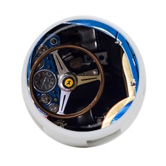 Steering Wheel Ferrari Blue Car 4-Port USB Hub (One Side)