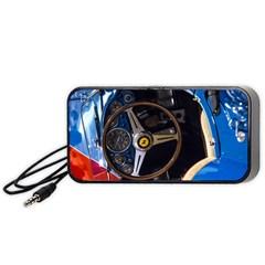 Steering Wheel Ferrari Blue Car Portable Speaker (Black)