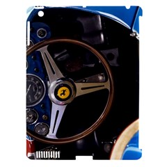 Steering Wheel Ferrari Blue Car Apple iPad 3/4 Hardshell Case (Compatible with Smart Cover)