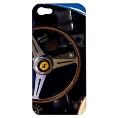Steering Wheel Ferrari Blue Car Apple iPhone 5 Hardshell Case