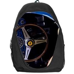 Steering Wheel Ferrari Blue Car Backpack Bag