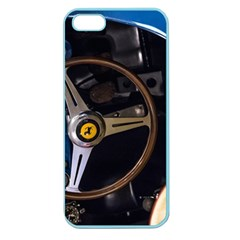 Steering Wheel Ferrari Blue Car Apple Seamless iPhone 5 Case (Color)